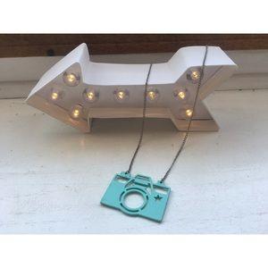 Metal Camera Necklace